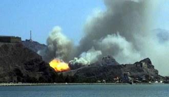 Explosão resultante de um ataque com míssil balístico Tochka. Imagem: internet